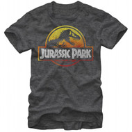 Jurassic Park Firey Logo Adult T-Shirt
