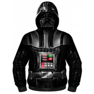 Star Wars Vader Is Here Sublimated Costume Adult Zip Up Hooded Fleece
