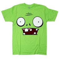 Plants vs Zombies Big Face Green T-shirt