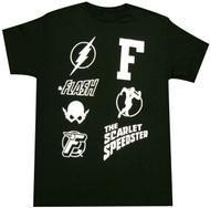 DC Comics The Flash Icons Adult T-shirt