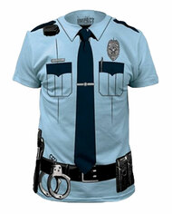 Johnny Law Police Officer Costume Adult T-shirt