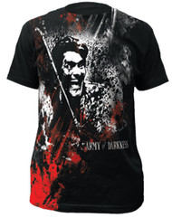 Army Of Darkness Blood & Smoke Big Print Subway Adult T-Shirt