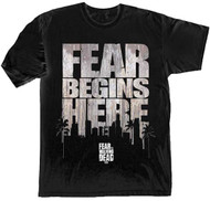 The Walking Fear Begins Here Adult T-Shirt