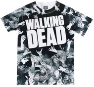 The Walking Dead Walker Mosh Pit Dye Sublimated Adult T-Shirt