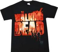 The Walking Dead Two Fire Logo Adult T-Shirt