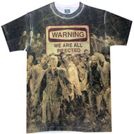 The Walking Dead Warning: Infected Dye Sublimated Adult T-Shirt