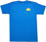 Adventure Time Jake in Pocket Adult T-Shirt