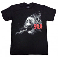 Sons of Anarchy Skull Smash Adult T-shirt