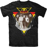 Aerosmith Triangle Circle Photo Adult T-Shirt