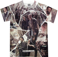 The Walking Dead Walkers Cut Out Shapes Dye Sublimated Adult T-Shirt