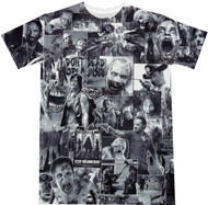 The Walking Dead Walkers Black and White Classic Photo Montage Dye Sublimated Adult T-Shirt
