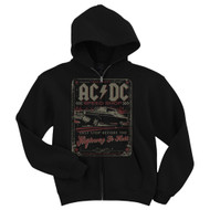AC/DC Speed Shop Adult Zip Hoodie Sweatshirt