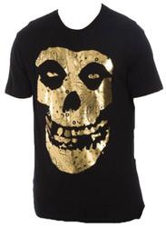 Misfits Gold Foil Fiend Logo Adult T-Shirt