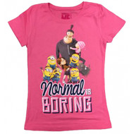 Despicable Me Normal Is Boring Juniors T-Shirt
