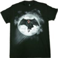 Batman Vs Superman - Superman In Bat Signal Adult T-Shirt