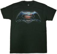 Batman Vs Superman Main Color Logo Adult T-Shirt