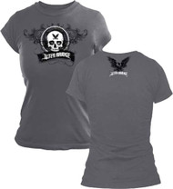 Alter Bridge Skull From Tour Girls Juniors Tissue T-Shirt