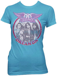 Aerosmith Dream On Circle Photo Girls Juniors Tissue T-Shirt