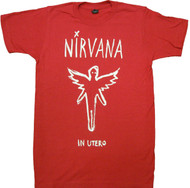 Nirvana - Chalk Outline In Utero Adult T-Shirt