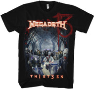 Megadeth Zombie Group 13 Adult T-Shirt