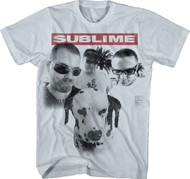 Sublime Group Photo W/ Dog Adult T-Shirt