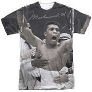 Muhammad Ali Champ All Over Sublimation Print Adult T-Shirt