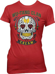 Wu-Tang Clan - Fancy Skull Girls Juniors T-Shirt