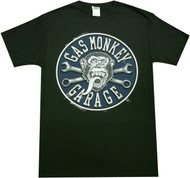 Gas Monkey Garage - Faux Stitched Patch Adult T-Shirt