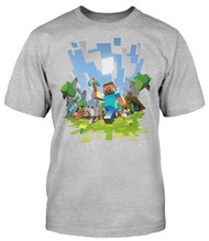 Minecraft Adventure Adult Heather T-Shirt