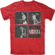 Nirvana Square Logo Adult T-Shirt