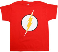 Flash Logo With Silver Foil Youth T-Shirt