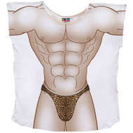 Leopard Thong Muscle Guy Mens Coverup T-Shirt
