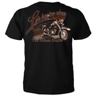 Life Begins When The Engine Starts Motorcycle T-shirt