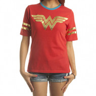 Wonder Woman DC Comics All Foil Juniors Athletic T-Shirt