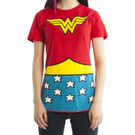 Wonder Woman DC Comics Suit Up Juniors Costume T-shirt
