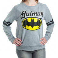 Batman Logo Juniors French Terry Long Sleeve Shirt
