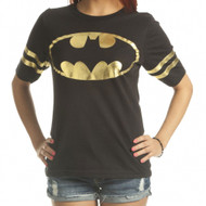 Batman DC Comics All Foil Juniors Athletic T-Shirt