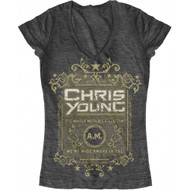 Chris Young The Whole World's A Sleepin Juniors T-shirt