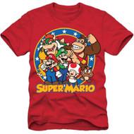 Super Mario Bros Group Shot Youth T-shirt