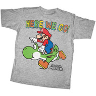 Nintendo T-shirt Here We Go Super Mario Youth Tee