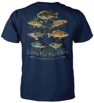 Live To Fish - Fish To Live - Fishing T-Shirt