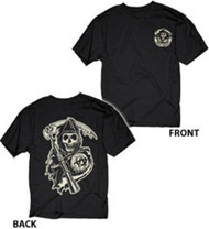 Sons Of Anarchy Reaper Circle Logo Adult T-shirt