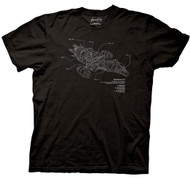 Firefly Serenity Ship Diagram Adult T-shirt