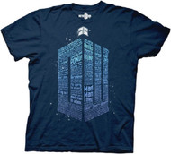 Doctor Who Logo Of Words Adult T-shirt