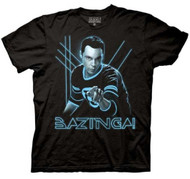 The Big Bang Theory - Glowing Sheldon Adult Black T-Shirt