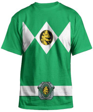 Power Rangers Mighty Fine Ranger Costume Adult Green T-Shirt