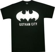 DC Comics Gotham City Batman Distressed Logo Adult T-Shirt