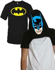 DC Comics Batman Face Flip-up Reversible Adult T-Shirt