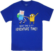 Adventure Time With Finn And Jake Standing Dap What Time Is It? Adult T-Shirt