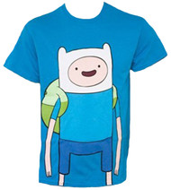 Adventure Time With Finn And Jake Large Finn Adult T-Shirt